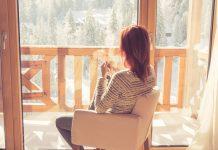 home looking window winter